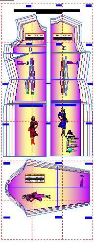 Moldes en plantillas digitales para diseñar modelos de vestidos para dama