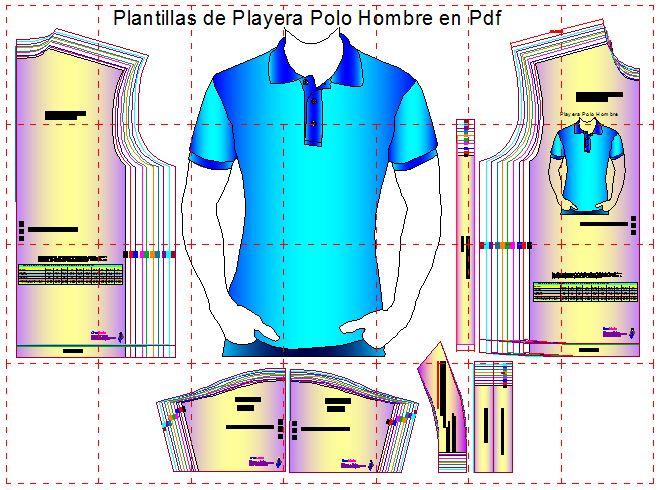 Moldes de playera polo para imprimir en pdf