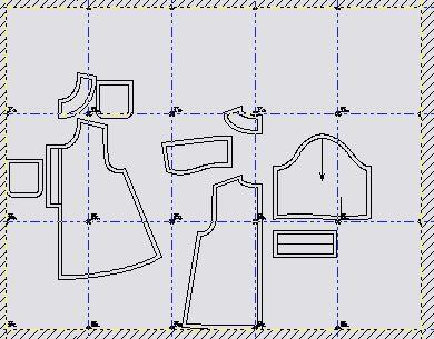acomodo de moldes en hojas tamaño carta de los patrones o moldes vestidito bebas