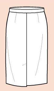 Falda con Ventilacion o Abertura Frontal