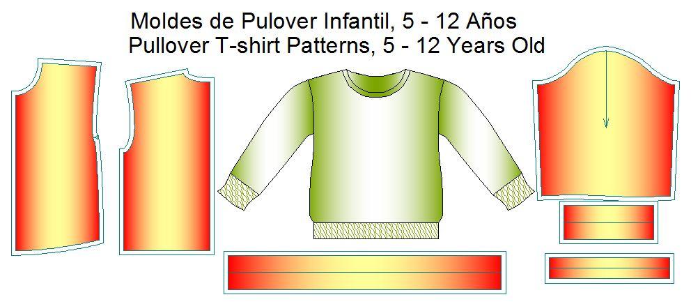 moldes de pulover infantil