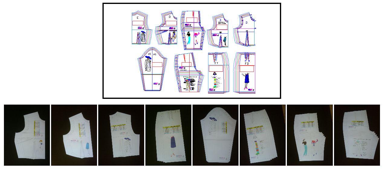 moldes o patrones base de diseño de ropa comercial