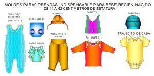 Tallaje de Prendas indispensables para bebes recienacidos