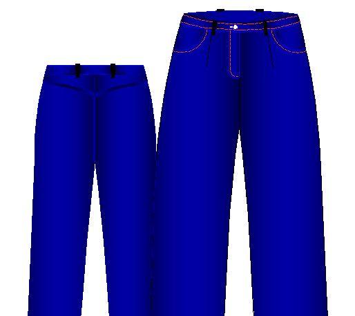 jeans toma8 Moldes de Pantalones Jeans de Mujer