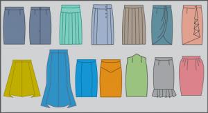 Software para generar la coleccion de patrones de faldas de dama