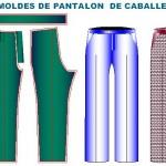 Tallaje de moldes de pantalon de caballero