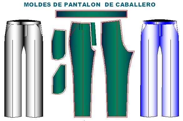 patrones pant cab2 Moldes de Pantalon Clasico de Hombre