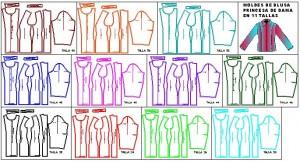 Patrones de blusas de dama en auto cad en todas las tallas