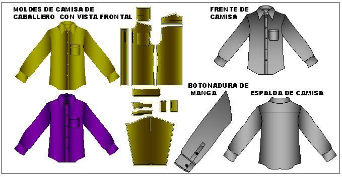 Patrones de camisas con botonadura especial en maga