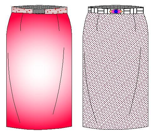 tallaje de falda linea recta