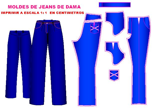 Molderia de Jeans de Dama