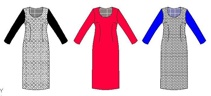 Patrones en tallas completas de vestidos de dama