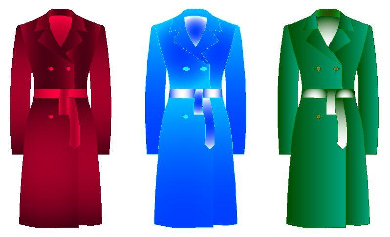 juegos de vestir con patrones de abrigos de mujer