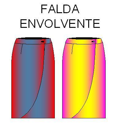 Moldes de Falda Modelo Envolvente Talla 32