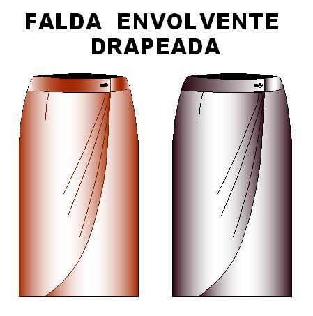 Noldes de Falda Modelo Envolvente Drapeada Talla 32