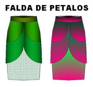Tallaje para coser falda de petalos en 11 tallas