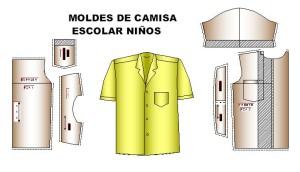moldes camisa ninos1 300x172 Moldes de Camisa y Blusa Escolar