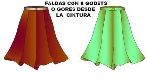 moldes de falda envolvente