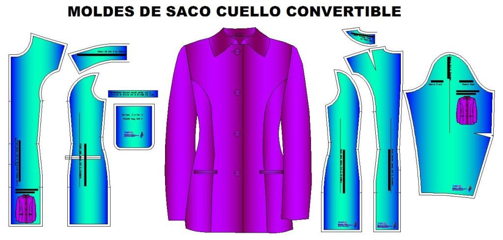 Molderia para costrua de saco clasico cluello convertible