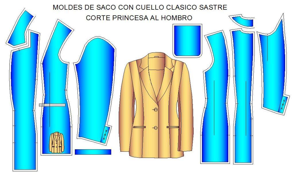 Tallaje de saco cuello clasico sastre