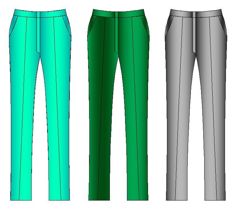 Modelo de pantalón clásico línea recta de mujer