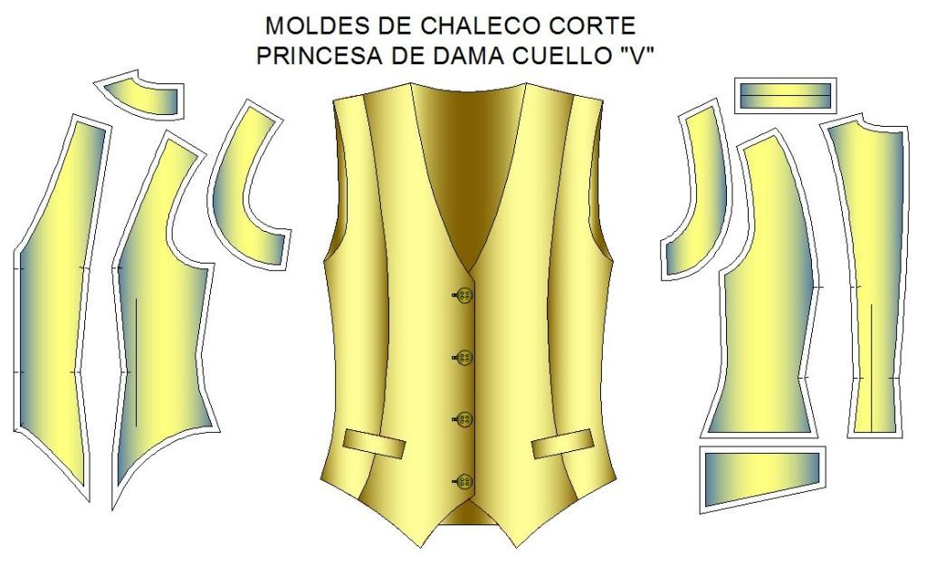 Moldes_chaleco_dama_vuello_V