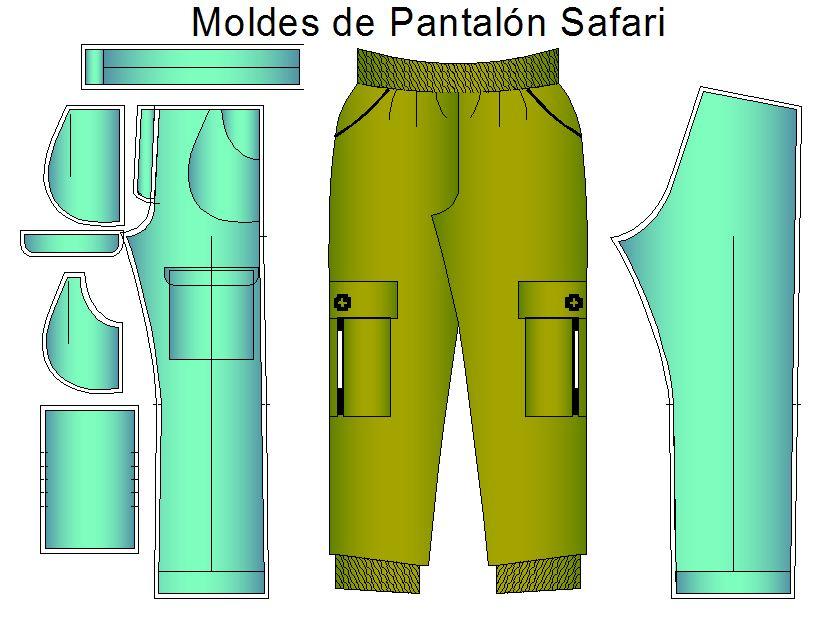 Moldes Y Patrones De Comando Casaca Y Pantalon Safari Pantalon Cargo