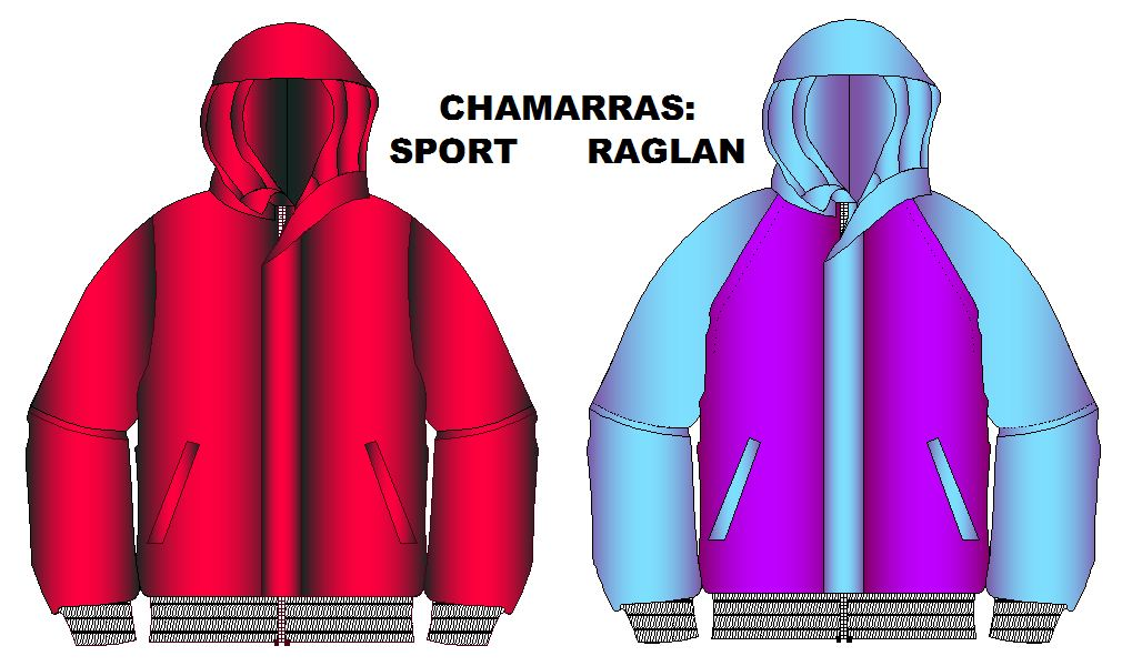 Moldes para confeccion de chamarras manga sport y raglan