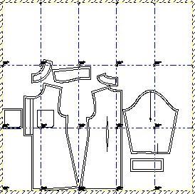 Mapa de armado vestido en hojas tamaño A4