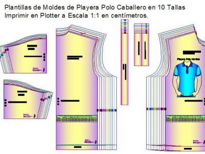 Plantillas de patrones de playera polo