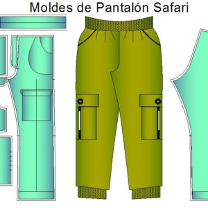 Pantalón tipo safari