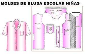 Moldes de blusa escolar de niña