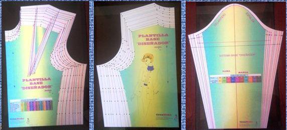 Moldes basicos para diseñar ropa femenina